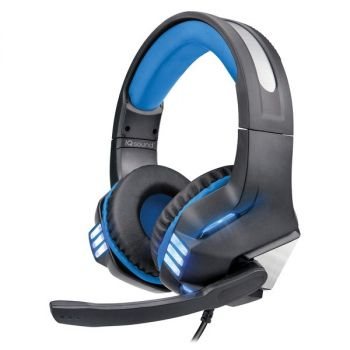 Supersonic IQ-480G - BLUE Pro-Wired Gaming Headset with Lights (Blue)