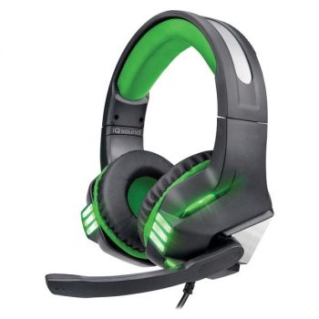 Supersonic IQ-480G - GREEN Pro-Wired Gaming Headset with Lights (Green)