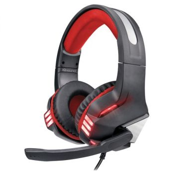 Supersonic IQ-480G - RED Pro-Wired Gaming Headset with Lights (Red)