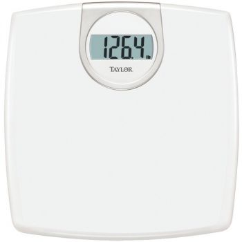 Taylor Precision Products 702940133 LCD Readout 330-lb Capacity White Bathroom Scale