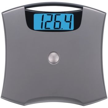 Taylor Precision Products 74054102 Jumbo Easy-to-Clean 440-lb Capacity Silver Bathroom Scale