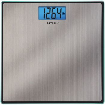 Taylor Precision Products 74074102 Easy-to-Read 400-lb Capacity Stainless Steel Bathroom Scale
