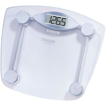 Taylor Precision Products 7506 Digital 400-lb Capacity Chrome and Glass Bathroom Scale