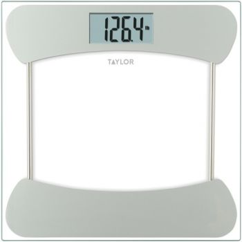 Taylor Precision Products 754941933S Instant Read 400-lb Capacity Bathroom Scale