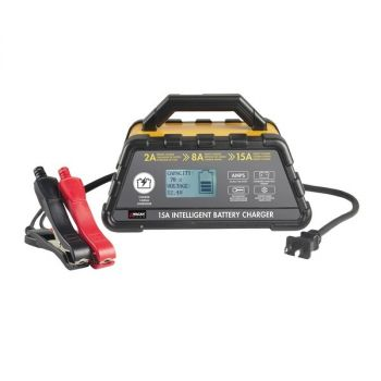 Wagan Tech 7407 15-Amp 6-Stage Intelligent Battery Charger