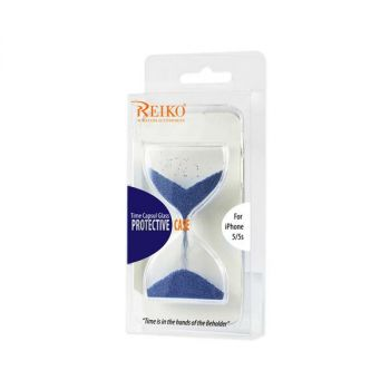 REIKO IPHONE SE/ 5S/ 5 3D SAND CLOCK CLEAR CASE IN NAVY DCPC03-IPHONE5SNV