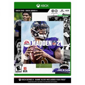 Electronic Arts 014633739831 Madden NFL 21 Video Game - Standard Edition - E (Everyone) - Sports and Outdoors - Multiplayer - Xbox One and Xbox Series X