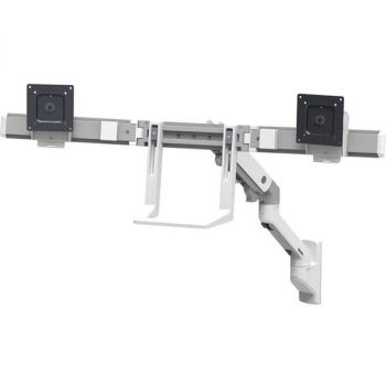 Ergotron Mounting Arm for Monitor, TV - White - 2 Monitor(s) Supported32 Screen Support - 17.50 lb Load Capacity