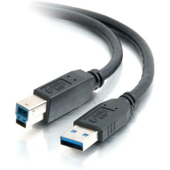 C2G 10ft USB 3.0 A to B SuperSpeed Cable - M/M - 9.84 ft USB Data Transfer Cable - Type A Male USB - Type B Male USB - Shielding - Black