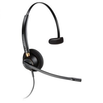 Plantronics Over-the-head Monaural Corded Headset - Mono - Wired - Over-the-head - Monaural - Supra-aural - Noise Cancelling Microphone - Noise Canceling