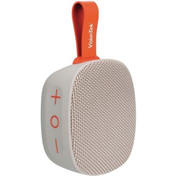 VisionTek Sound Cube Portable Bluetooth Speaker System - Gray - TrueWireless Stereo - Near Field Communication - Battery Rechargeable