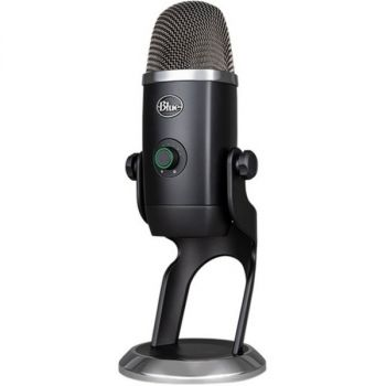 Blue Yeti X Wired Condenser Microphone - Stereo - 20 Hz to 20 kHz - Cardioid, Bi-directional, Omni-directional - Stand Mountable, Desktop - USB