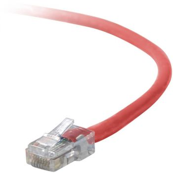 Belkin A3L791-01-RED Cat5e Cable - RJ-45 Male - RJ-45 Male - 1ft - Red