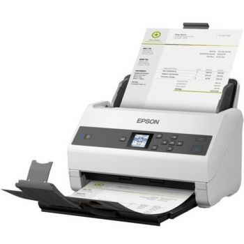 Epson B11B250201 Color Duplex Scanner - Up to 65 ppm - Up to 600 x 1200 dpi - USB 2.0 - 100-240 V AC