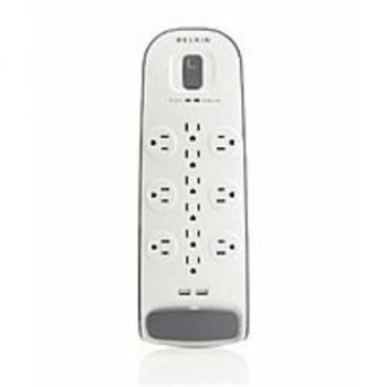 Belkin BV112050-06 12 Outlets Surge Protector - 2 USB - 6 Feet Cord - 3000 Joules