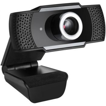 Adesso CyberTrack H4 1080P USB Webcam - 2.1 Megapixel - 30 fps - Manual Focus-Tripod Mount - 1920 x 1080 Video - Works with Zoom, Webex, Skype, Team, Facetime, Windows, MacOS, and Android Chrome OS