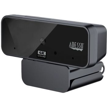 Adesso CyberTrack H6 4K Ultra HD Webcam - 8 Megapixel - 30 fps - USB 2.0 - Fixed Focus - Tripod mount - Privacy shutter - 3840 x 2160 Video - Works with Zoom, Webex, Skype, Team, Facetime, Windows, MacOS, and Android Chrome OS