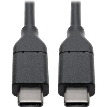 Tripp Lite USB C Hi-Speed Cable w/ 5A Rating 20V M/M USB 2.0 USB Type C USB-C USB Type-C 3ft 3' - USB for MacBook Pro, Smartphone, Tablet, PC, Wall Charger - 60 MB/s - 3 ft - 1 x Type C Male USB - 1 x Type C Male USB - Nickel Plated Connector - Gold Plate
