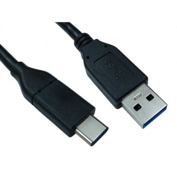 Cables Direct USB3C-921 USB 3.1 Type-C to Type-A Male/Male Cable - 5Gbps - 3.3 feet - Black