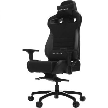 Vertagear Racing VG-PL4500_BK P-Line PL4500 Gaming Chair - 400 lb - Adjustable Seat Height - T-shaped Armrests - Headrest - 5-Pointed Star Base - Black and Carbon