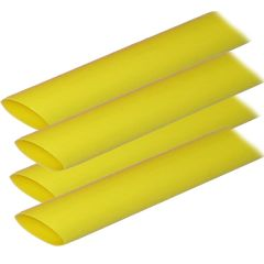 """Ancor Adhesive Lined Heat Shrink Tubing (ALT) - 3/4"""" x 12"""" - 4-Pack - Yellow"""