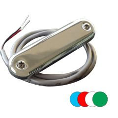 Shadow-Caster Courtesy Light w/2' Lead Wire - 316 SS Cover - RGB Multi-Color - 4-Pack