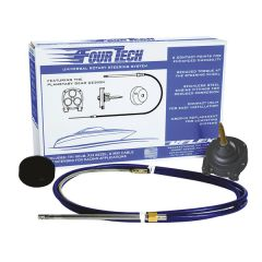 Uflex Fourtech 19' Mach Rotary Steering System w/Helm, Bezel & Cable