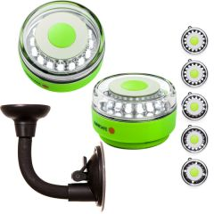 Navisafe Portable Navilight 360° 2NM Rescue - Glow In The Dark - Green w/Bendable Suction Cup Mount