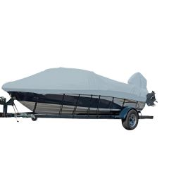 Carver Performance Poly-Guard Styled-to-Fit Boat Cover f/18.5' V-Hull Runabout Boats w/Windshield & Hand/Bow Rails - Grey
