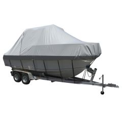 Carver Performance Poly-Guard Specialty Boat Cover f/25.5' Walk Around Cuddy & Center Console Boats - Grey