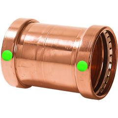 """Viega ProPress 2-1/2"""" Copper Coupling w/o Stop - Double Press Connection - Smart Connect Technology"""