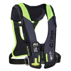 Onyx Impulse A/M 33 All Clear w/Harness Auto/Manual Inflatable Life Jacket - Grey