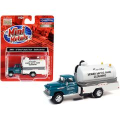 1957 Chevrolet Septic Tanker Truck Smithe Septic Service Glade Green and White 1/87 (HO) Scale Model by Classic Metal Works 30603