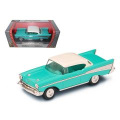 1957 Chevrolet Bel Air Turquoise 1/43 Diecast Model Car by Road Signature 94201tur