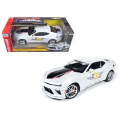 2017 Chevrolet Camaro SS Indy Pace Car 50th Anniversary Limited Edition to 1002pcs 1/18 Diecast Car Model by Autoworld AW236