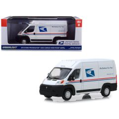 2018 RAM ProMaster 2500 Cargo High Roof Van United States Postal Service (USPS) White 1/43 Diecast Model Car by Greenlight 86154
