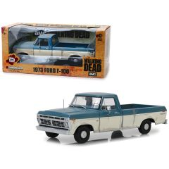 1973 Ford F-100 Ranger XLT Pickup Truck Blue and Cream (Weathered) The Walking Dead (2010) TV Series 1/18 Diecast Model Car by Greenlight 12956