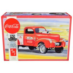 Skill 3 Model Kit 1940 Willys Gasser Pickup Truck Coca-Cola 1/25 Scale Model by AMT AMT1145M