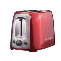 Brentwood 2 Slice Cool Touch Toaster in Red and Stainless Steel