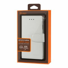 Reiko iPhone 7/8/SE2 Genuine Leather Wallet Case With RFID Card Protection In Ivory GLFC01-IPHONE7IR