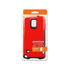 REIKO SAMSUNG GALAXY NOTE 4 CANDY SHIELD CASE WITH CARD HOLDER IN RED TPUPC08-SAMNOTE4RD