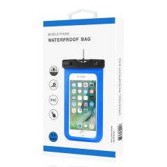 REIKO WATERPROOF CASE FOR IPHONE 6 PLUS/ 6S PLUS/ 7 PLUS OR 5.5 INCH DEVICES WITH WRIST STRAP IN BLACK WPC01-55INCHBK