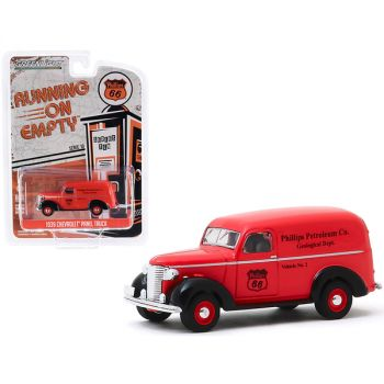 1939 Chevrolet Panel Truck Phillips 66 Phillips Petroleum Co. Geological Dept  Running on Empty Series 10 1/64 Diecast Model Car by Greenlight 41100A