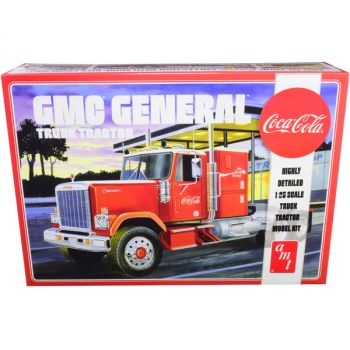 Skill 3 Model Kit GMC General Truck Tractor Coca-Cola 1/25 Scale Model by AMT AMT1179