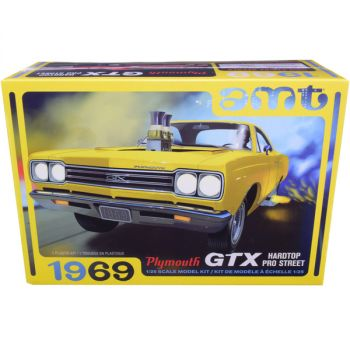 Skill 2 Model Kit 1969 Plymouth GTX Hardtop Pro Street 1/25 Scale Model by AMT AMT1180M