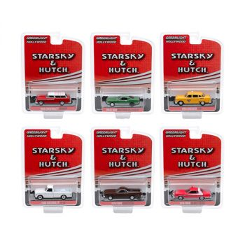 Hollywood Special Edition Starsky and Hutch (1975-1979) TV Series Set of 6 pieces 1/64 Diecast Model Cars by Greenlight 44855SET