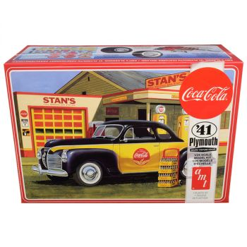 Skill 3 Model Kit 1941 Plymouth Coupe with 4 Bottle Crates Coca-Cola 1/25 Scale Model by AMT AMT1197M