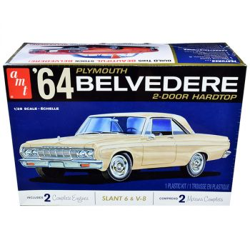 Skill 2 Model Kit 1964 Plymouth Belvedere Coupe Hardtop 1/25 Scale Model by AMT AMT1188M