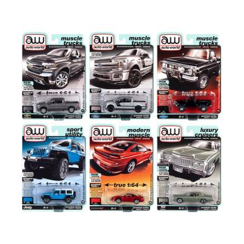 Autoworld Premium 2020 Set A of 6 pieces Release 5 1/64 Diecast Model Cars by Autoworld 64282A