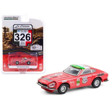1974 Datsun 260Z #326 Seman Baker (Rally Mexico 2010) La Carrera Panamericana Series 3 1/64 Diecast Model Car by Greenlight 13280D